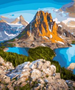 Mountains And Hills paint by numbers