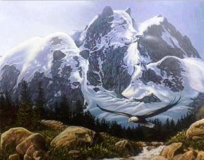 Mountains in the Shape of Bears paint by numbers