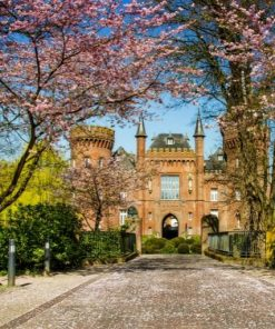 Moyland Castle in Germany paint by numbers