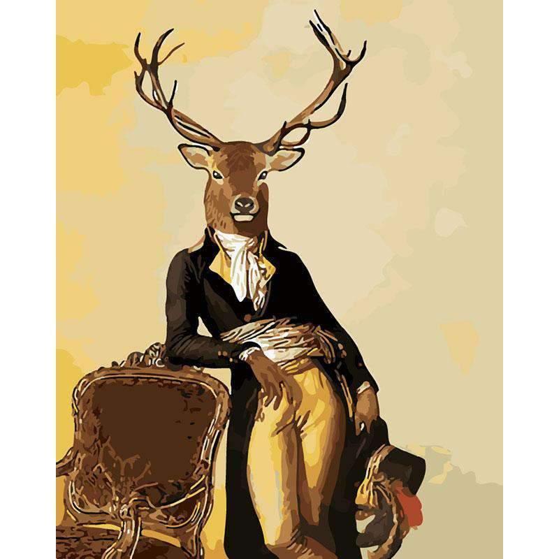 Mr Deer paint by numbers