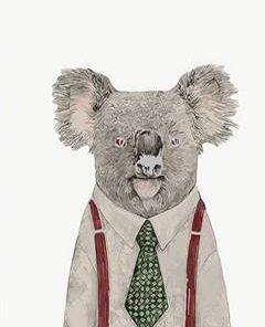 Mr Koala paint by numbers