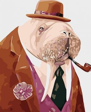 Mr Walrus paint by numbers