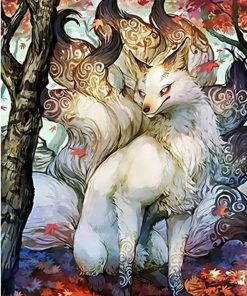Nine Tailed Fox paint by numbers