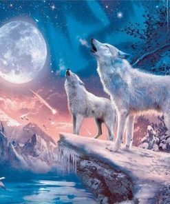 Northern Light Wolves paint by numbers
