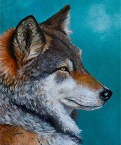 Northern Wolf paint by numbers