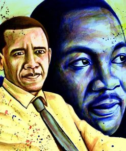 Obama And King Luther paint by numbers