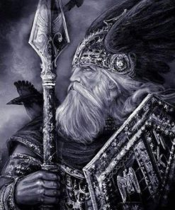Odin Vikings paint by numbers