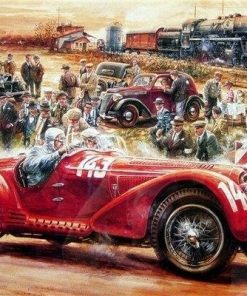 Old Car Racing paint by numbers
