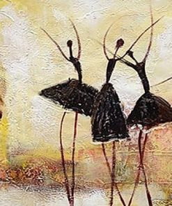 Panel Abstract Ballet Dancers paint by numbers