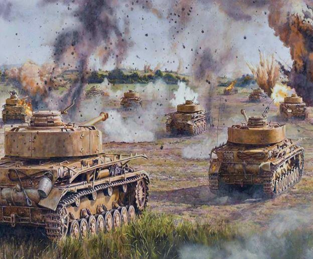 Panzer in War paint by numbers