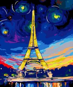 Paris And the Stars paint by numbers