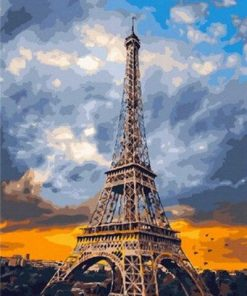 Paris Cloudy Sky paint by numbers