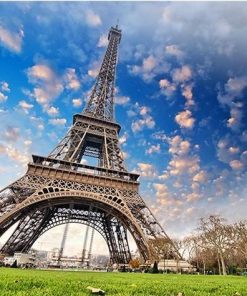 Paris Eiffel Tower Clouds paint by numbers