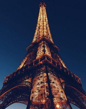 Paris Eiffel Tower Light Up paint by numbers