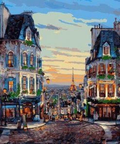 Paris France paint by numbers