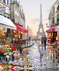 Paris Street City paint by numbers