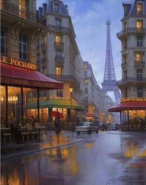 Paris Street paint by numbers