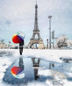 Paris Winter paint by numbers