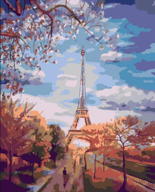 Paris paint by numbers