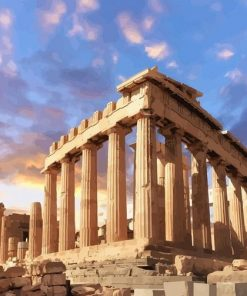 Parthenon Athena paint by numbers
