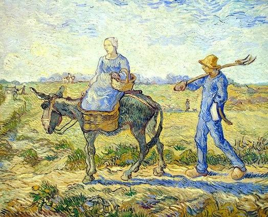 Going out to Work Van Gogh paint by numbers