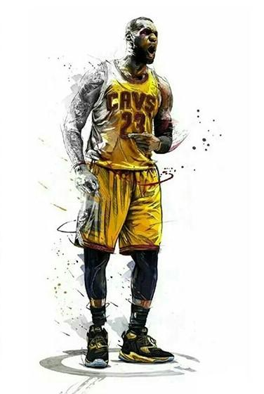 Lebron James Lakers People Paint By Number Numeral Paint
