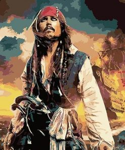 Pirate Jack Sparrow paint by numbers
