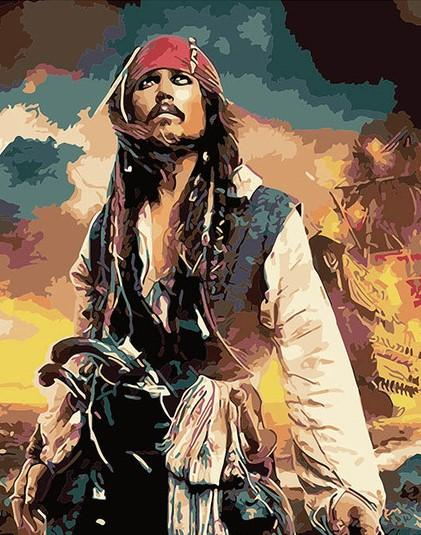 Pirate Jack Sparrow - People Paint By Number - Numeral Paint