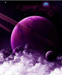 Planet Saturn paint by numbers