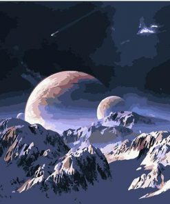 Planet Snow Mountain paint by numbers