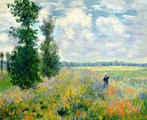 Poppy Field Claude Monet paint by numbers