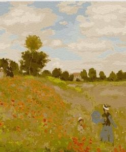 Poppy Field Monet paint by numbers