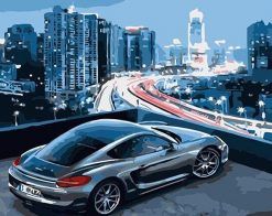 Porsche in New York paint by numbers