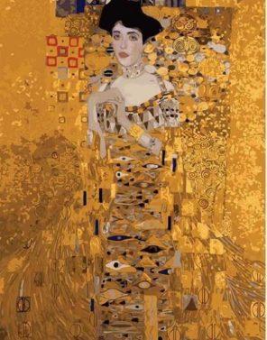 Portrait of Mrs Adele Bloch Gustav Klimt paint by numbers