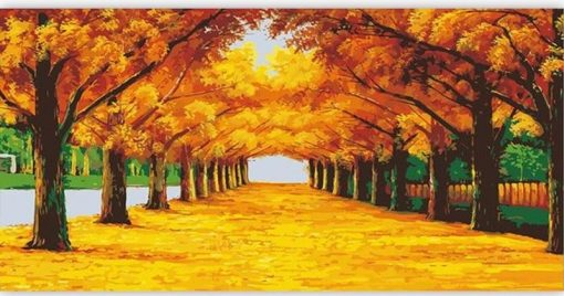 Frame Forest Landscape Acrylic Paint - DIY Paint By Numbers - Numeral Paint