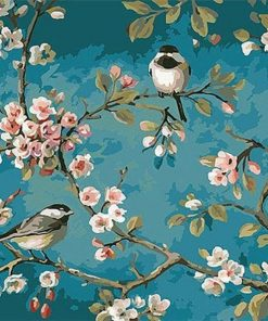Birds And Flower Kits Drawing - DIY Paint By Numbers - Numeral Paint