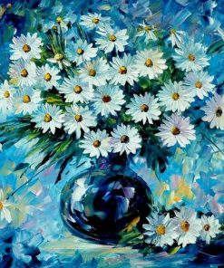Blue Flower - DIY Paint By Numbers - Numeral Paint