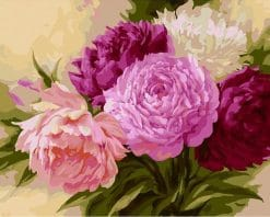 Chinese Flower Kits Coloring - DIY Paint By Numbers - Numeral Paint