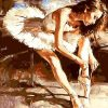 Ballet Hand Painted - DIY Paint By Numbers - Numeral Paint
