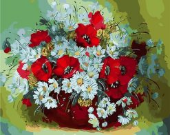 Daisy Flower Abstract - DIY Paint By Numbers - Numeral Paint