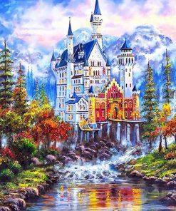 Fantasy Castle Landscape City - DIY Paint By Numbers - Numeral Paint
