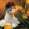 Flowers Girls Hand Painted - DIY Paint By Numbers - Numeral Paint