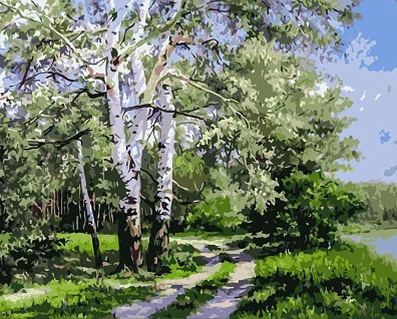Forest Landscape - DIY Paint By Numbers - Numeral Paint