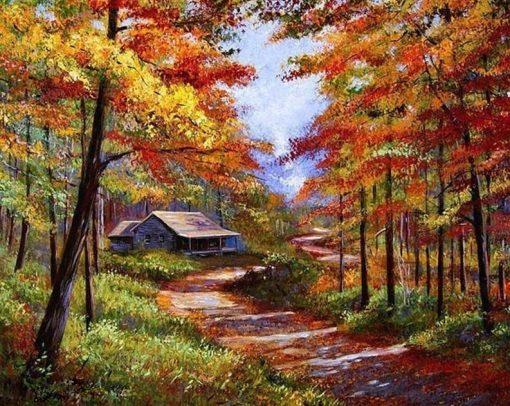 Autumn Landscape - DIY Paint By Numbers - Numeral Paint