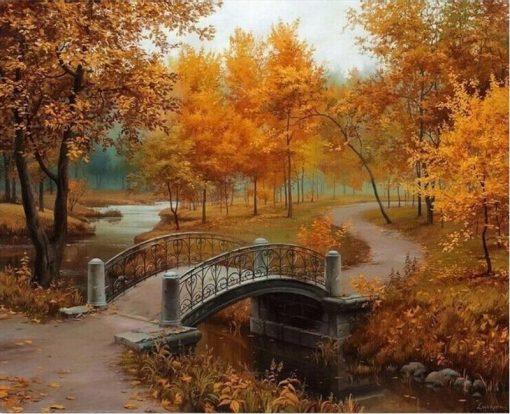 Autumn Landscape Home Decor Artwork - DIY Paint By Numbers - Numeral Paint