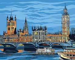 Big Ben boat City - DIY Paint By Numbers - Numeral Paint