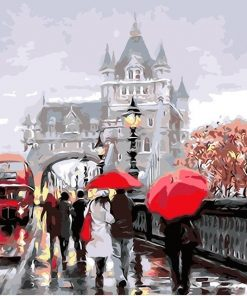 Bridge Lovers City - DIY Paint By Numbers - Numeral Paint