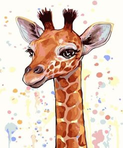 Cartoon Giraffe City - DIY Paint By Numbers - Numeral Paint