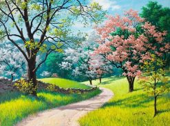 Herry Blossoms Road Painting - DIY Paint By Numbers - Numeral Paint