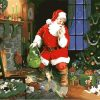 Christmas Picture Acrylic Paint On Canvas - DIY Paint By Numbers - Numeral Paint
